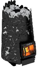 фото Печь для бани из котловой стали Dubrava 180 Short black