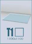 Стеклянный подиум для камина T1