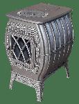 Чугунная печь-камин Бахта серая (Ferrum)