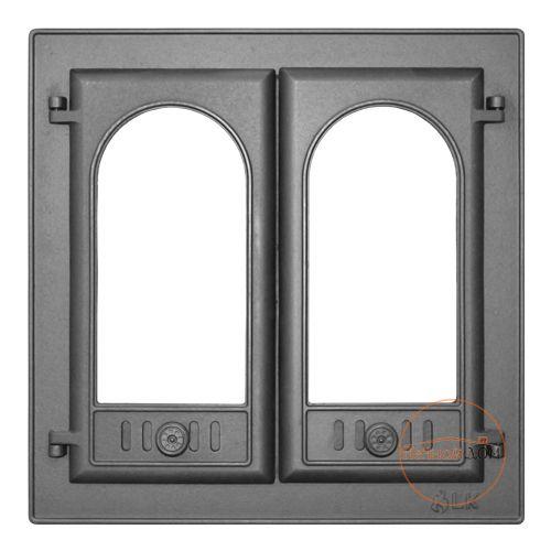 """фото Дверь каминная с двумя створками """"LK 300"""""""