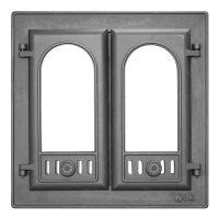 """фото Дверь каминная с двумя створками """"LK 301"""""""