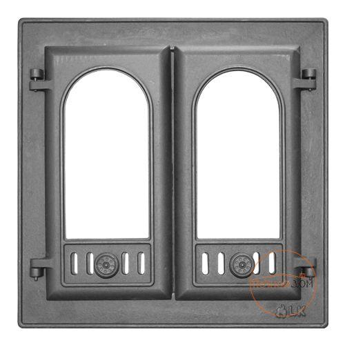 фото Дверь каминная с двумя створками LK 301
