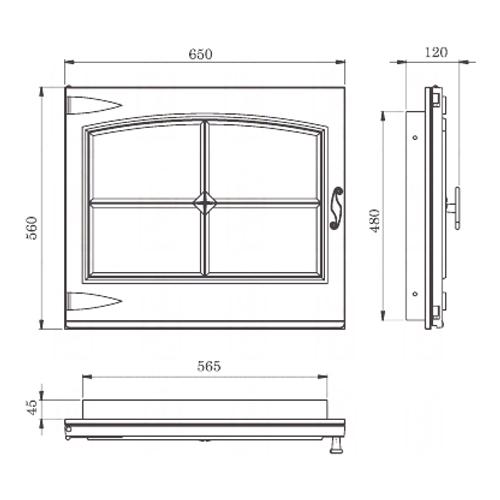 """фото Стальная дверка """"ДК650-1А"""""""