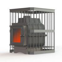 фото Печь для бани Fireway Паровар 24 прут 201 без выноса дровяная