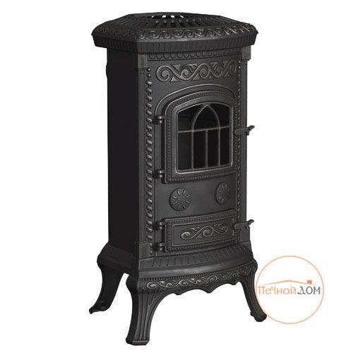 фото Чугунная печь-камин PLATO (Плато) черный Nordflam