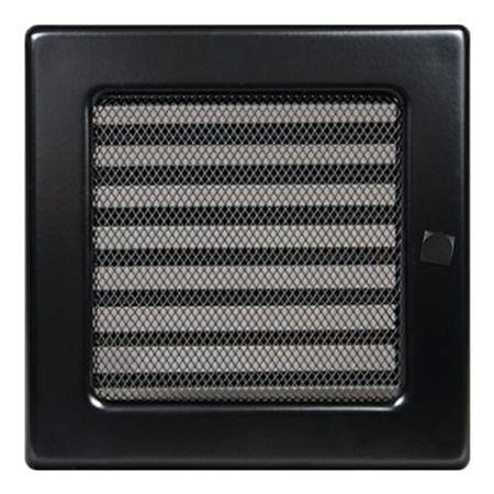 фото Решетка с жалюзи 17*17 черная