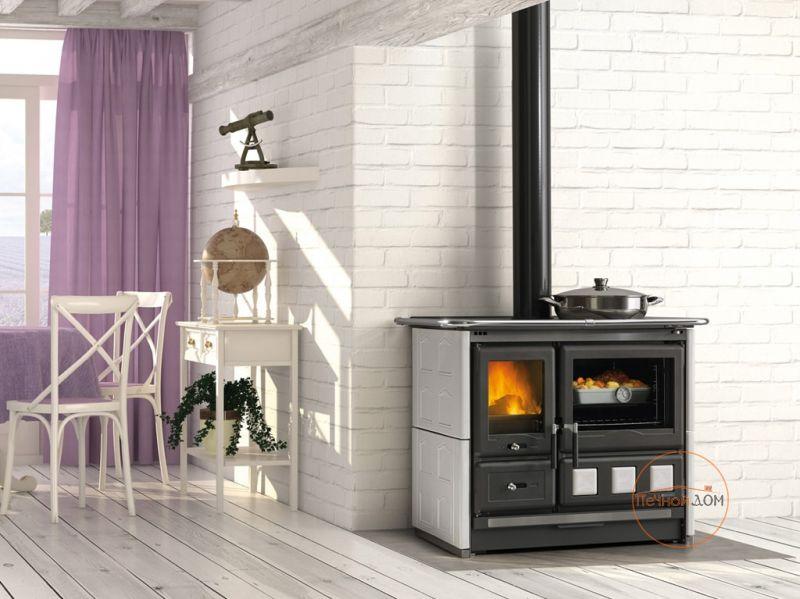 фото Дровяная плита с духовкой Rosa XXL Maiolica La Nordica