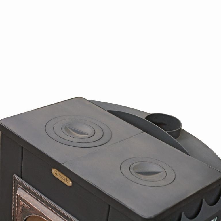 фото Печь-камин Шлиссельбург змеевик (стальная дверка)