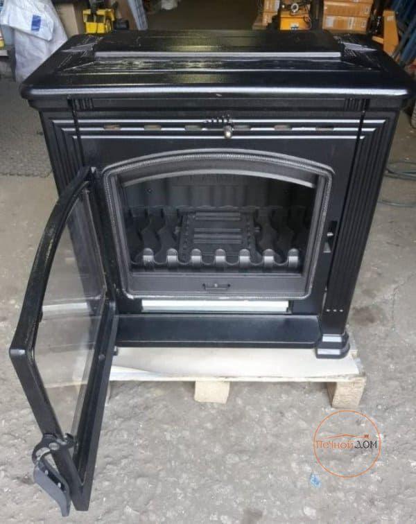 фото Печь-камин Tena Plamen эмалированный чугун, черная