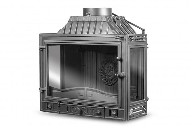 фото Трехсторонняя каминная топка Kaw-Met W4 Dual (3 стекла)