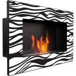 Биокамин настенный Delta Zebra/400 мл KRATKI