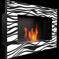 фото Биокамин настенный Delta Zebra/400 мл KRATKI